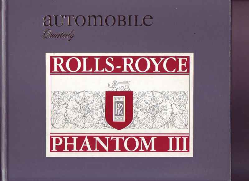 AUTOMOBILE QUARTERLY _ROLLS_ROYCE PHANTOM III